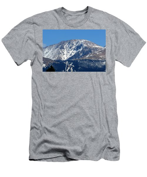 Pikes Peak Close-up Men's T-Shirt (Athletic Fit)