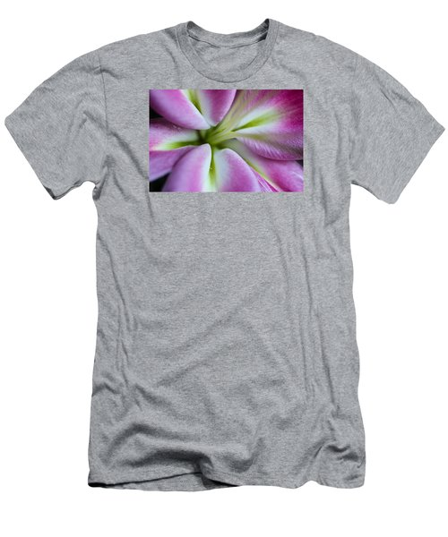 Pink Asiatic Lily Men's T-Shirt (Slim Fit) by Julie Andel