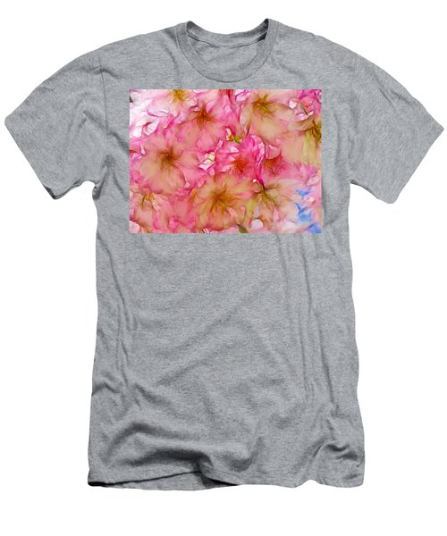 Men's T-Shirt (Slim Fit) featuring the digital art Pink Blossom by Lilia D