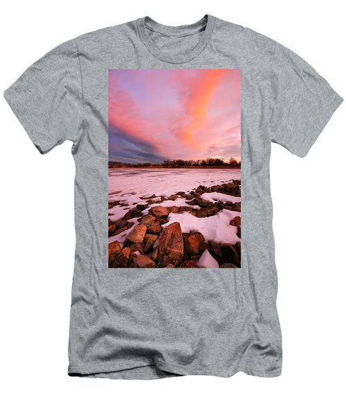 Pink Clouds Over Memorial Park Men's T-Shirt (Athletic Fit)