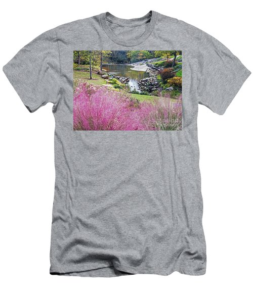 Pink Fall Men's T-Shirt (Athletic Fit)
