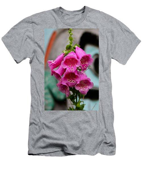 Pink Foxglove Men's T-Shirt (Athletic Fit)