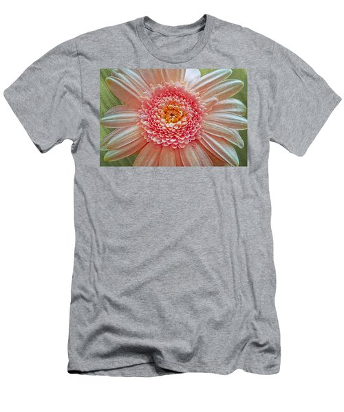 Pink Gerbera Textured Men's T-Shirt (Athletic Fit)
