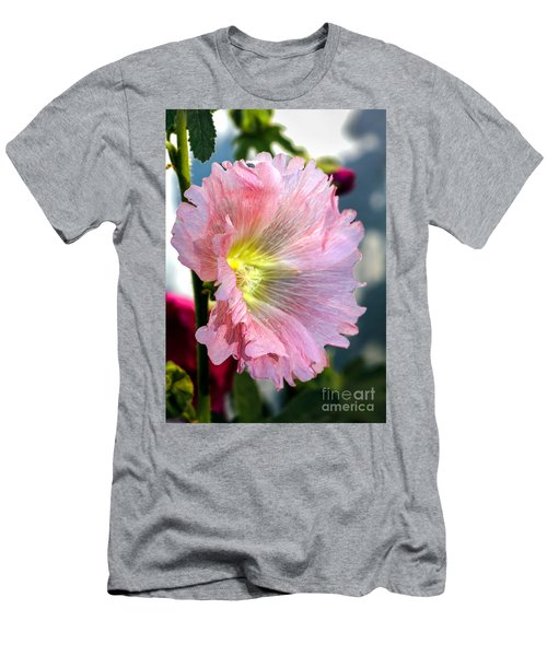 Pink Hollyhock Men's T-Shirt (Athletic Fit)