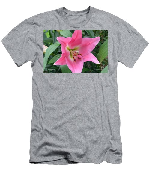 Men's T-Shirt (Slim Fit) featuring the photograph Pink Lily by Jeannie Rhode