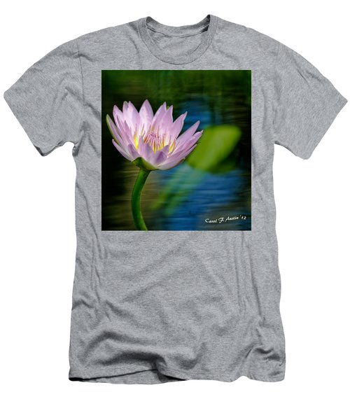 Purple Petals Lotus Flower Impressionism Men's T-Shirt (Athletic Fit)