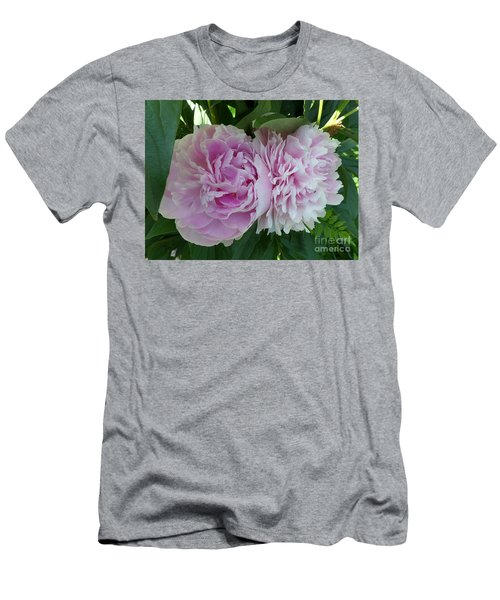 Pink Peonies 2 Men's T-Shirt (Slim Fit) by HEVi FineArt