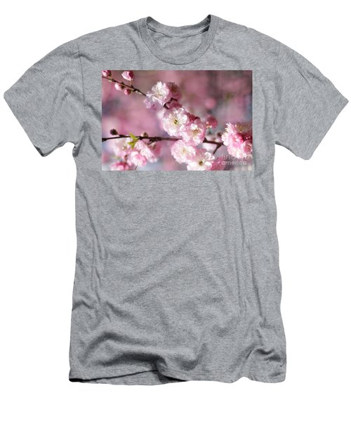 Pink Plum Branch 1 Men's T-Shirt (Athletic Fit)