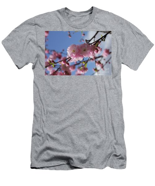 Pink Plum On Sky 2 Men's T-Shirt (Athletic Fit)