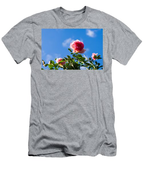 Pink Roses - Featured 3 Men's T-Shirt (Athletic Fit)