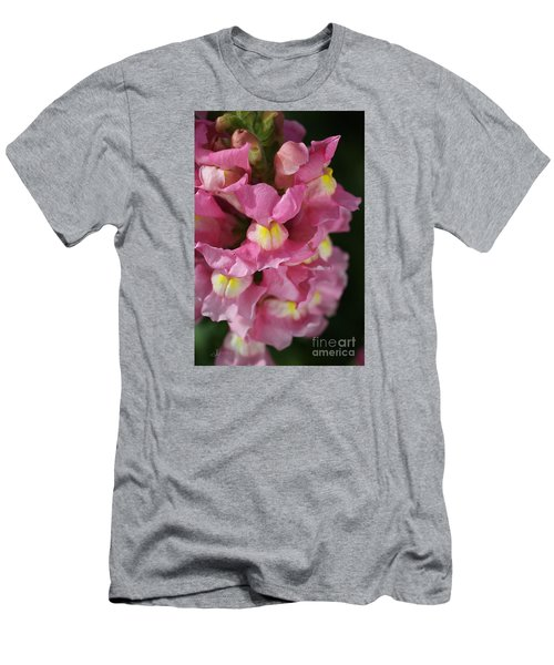 Pink Snapdragon Flowers Men's T-Shirt (Slim Fit) by Joy Watson