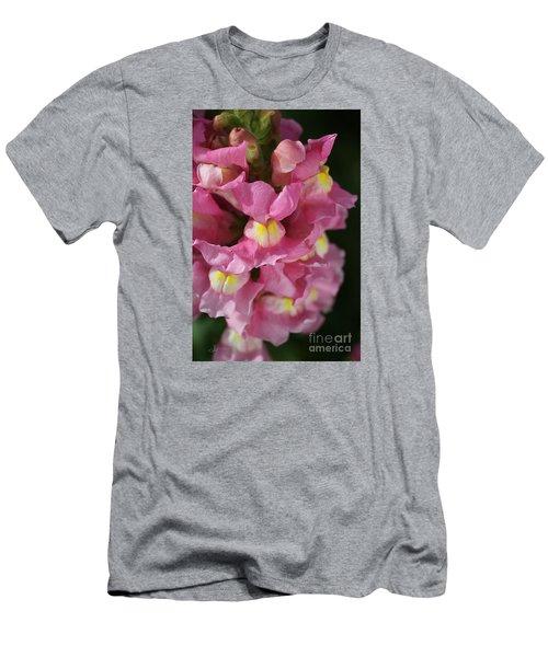 Pink Snapdragon Flowers Men's T-Shirt (Athletic Fit)