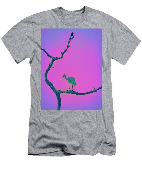 Pink Spoonbill Men's T-Shirt (Athletic Fit)