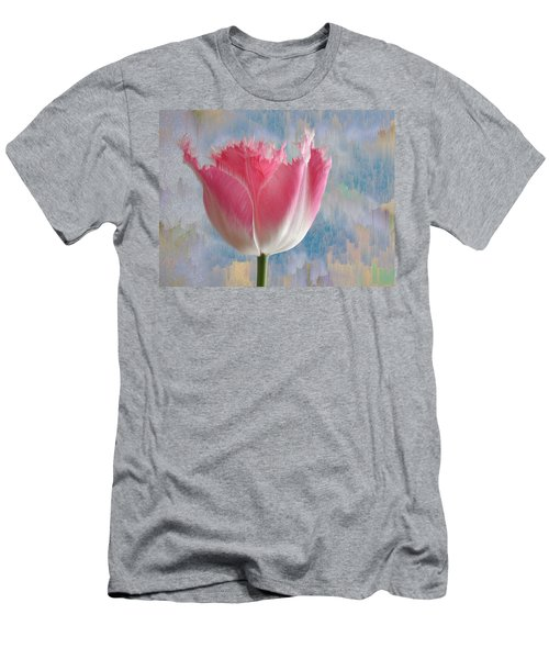 Pink Tulip Men's T-Shirt (Slim Fit) by Mark Greenberg