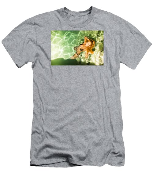 Men's T-Shirt (Slim Fit) featuring the photograph Wet Piper Precious No73-5824 by Amyn Nasser