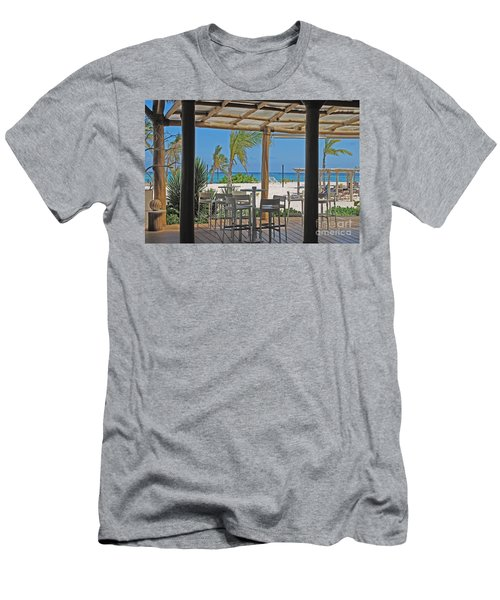 Playa Blanca Restaurant Bar Area Punta Cana Dominican Republic Men's T-Shirt (Athletic Fit)