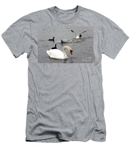 Playful Fun On The Lake Men's T-Shirt (Slim Fit) by Kathy  White