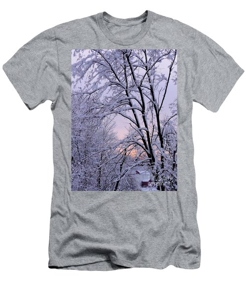 Playhouse Through Snow Men's T-Shirt (Athletic Fit)