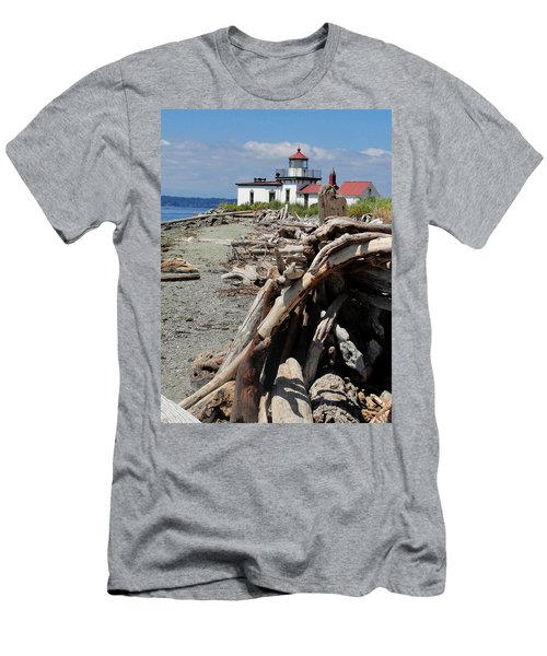 Men's T-Shirt (Slim Fit) featuring the photograph Point In View by Natalie Ortiz