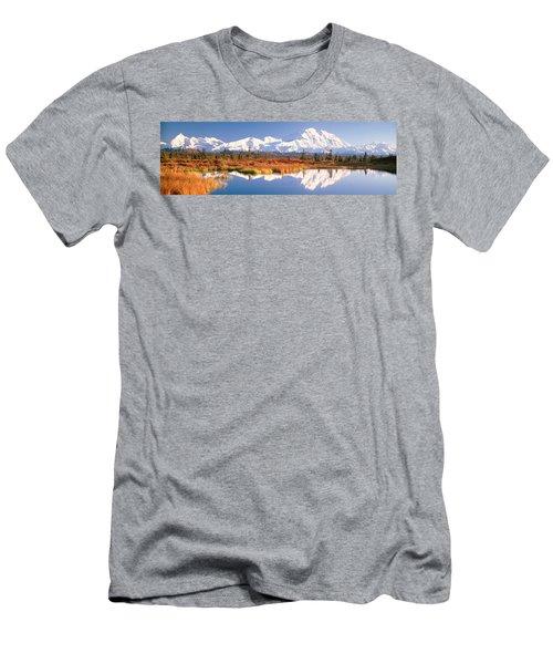 Pond, Alaska Range, Denali National Men's T-Shirt (Athletic Fit)