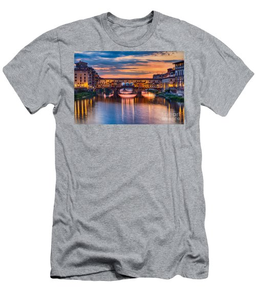 Ponte Vecchio At Sunset Men's T-Shirt (Athletic Fit)