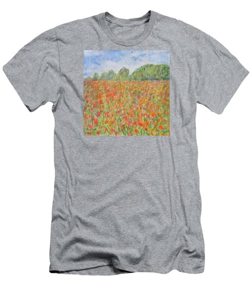 Poppies In A Field In Afghanistan Men's T-Shirt (Athletic Fit)