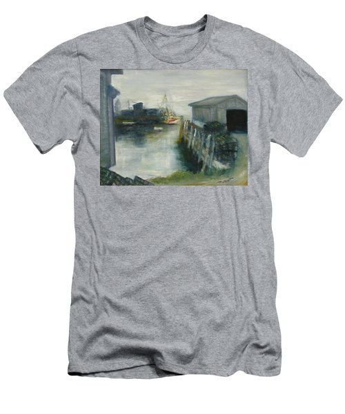 Port Clyde In Fog Men's T-Shirt (Athletic Fit)