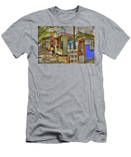 Portland Food Carts Men's T-Shirt (Slim Fit) by David Bearden