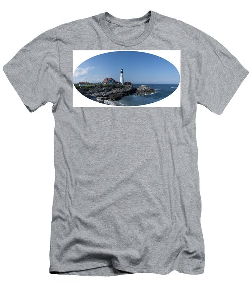 Men's T-Shirt (Slim Fit) featuring the photograph Portland Head Light House by Daniel Hebard