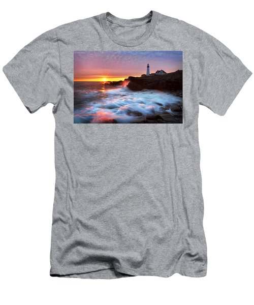 Portland Head Sunrise Men's T-Shirt (Athletic Fit)