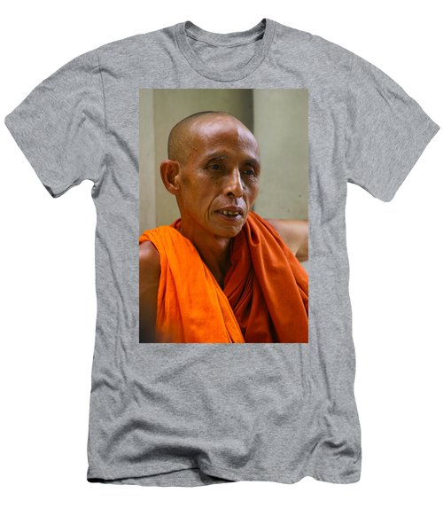 Portrait Of A Buddhist Monk Yangon Myanmar Men's T-Shirt (Athletic Fit)