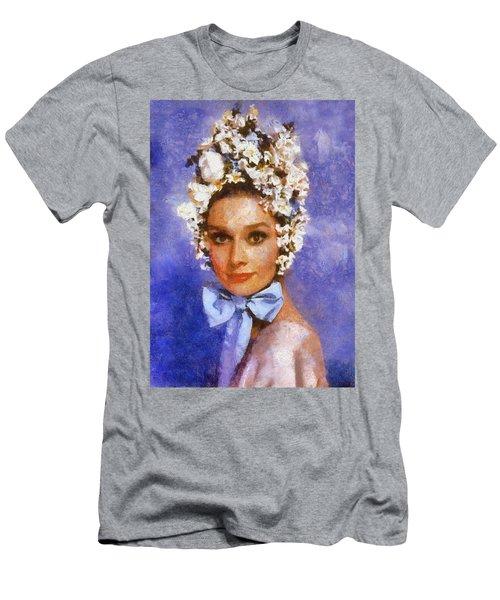 Portrait Of Audrey Hepburn Men's T-Shirt (Athletic Fit)