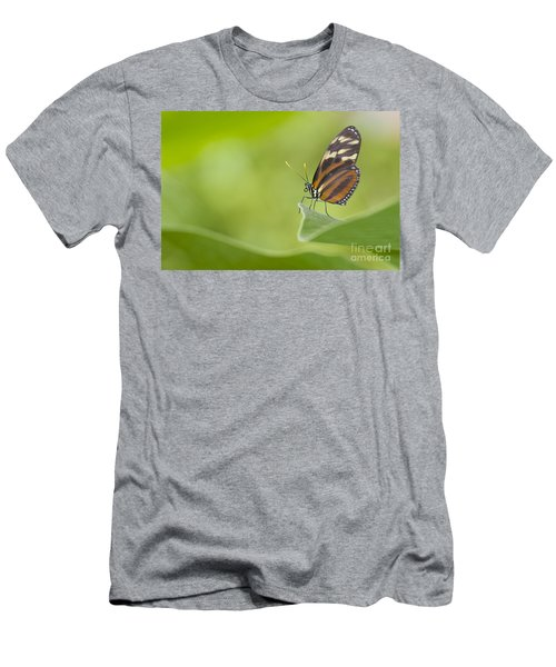 Men's T-Shirt (Slim Fit) featuring the photograph Postman On A Leaf by Bryan Keil