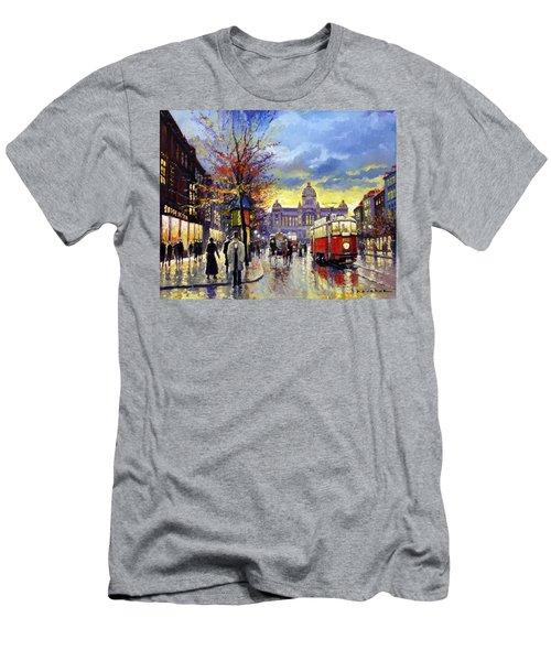 Prague Vaclav Square Old Tram Imitation By Cortez Men's T-Shirt (Athletic Fit)
