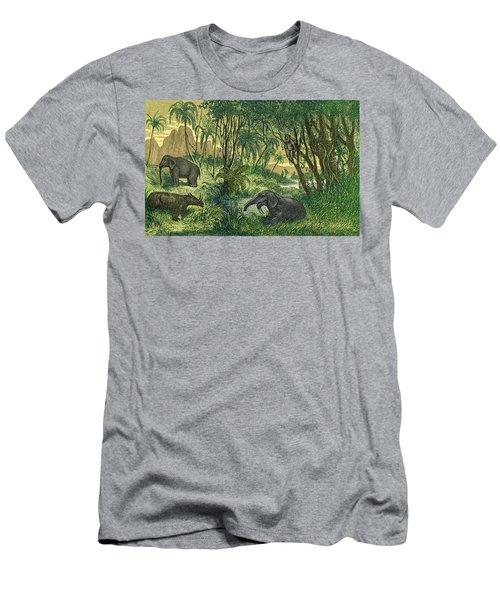 Prehistoric, Miocene Landscape Men's T-Shirt (Athletic Fit)