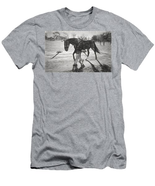 Presentation In Charcoal Men's T-Shirt (Athletic Fit)