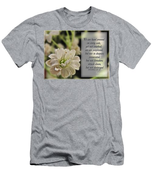 Pressed But Not Crushed Men's T-Shirt (Slim Fit) by Debbie Portwood