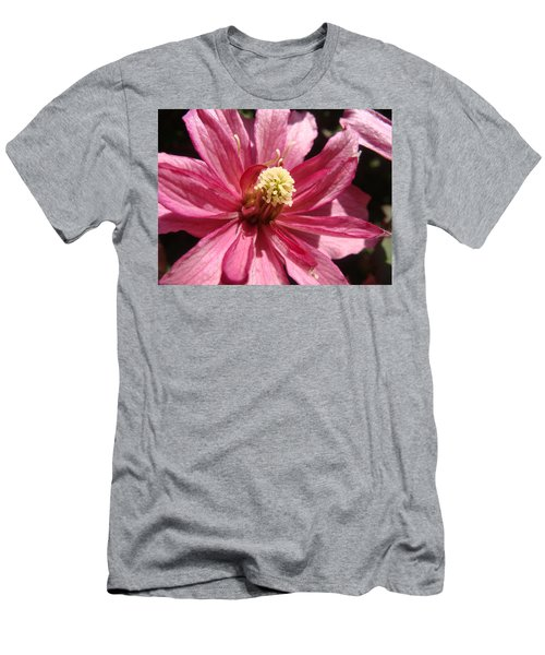 Men's T-Shirt (Slim Fit) featuring the photograph Pretty In Pink by Cheryl Hoyle