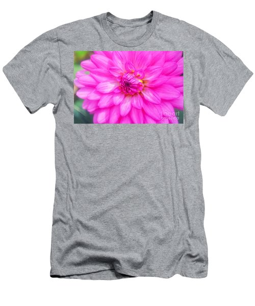 Pretty In Pink Dahlia Men's T-Shirt (Athletic Fit)