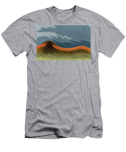 Primitive Mountain Formation Men's T-Shirt (Athletic Fit)