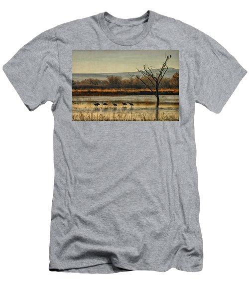 Promenade Of The Cranes Men's T-Shirt (Athletic Fit)
