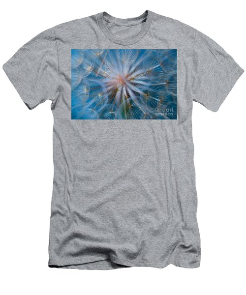 Men's T-Shirt (Athletic Fit) featuring the photograph Puff-ball In Blue by Jaroslaw Blaminsky
