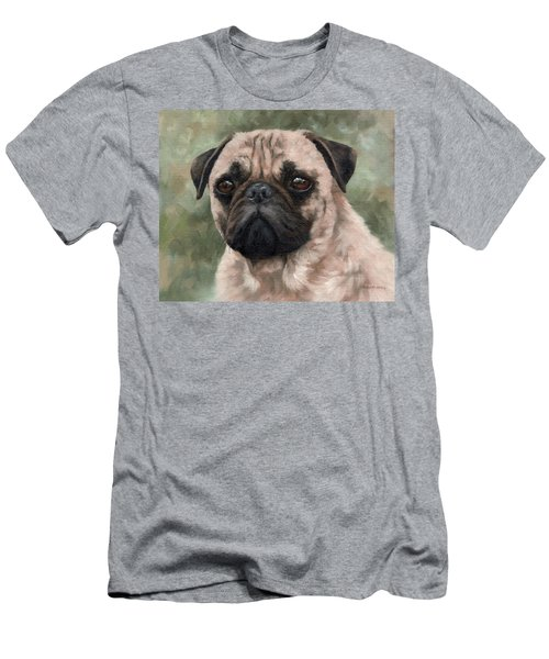 Pug Portrait Painting Men's T-Shirt (Athletic Fit)