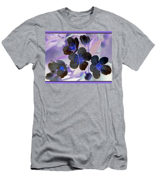 Purple Blue And Gray Men's T-Shirt (Athletic Fit)