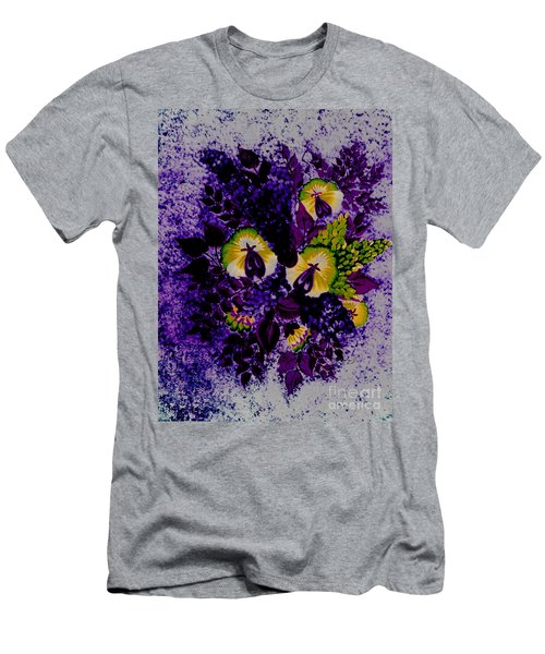 Purple Bouquet - Flowers - Pansies Men's T-Shirt (Athletic Fit)