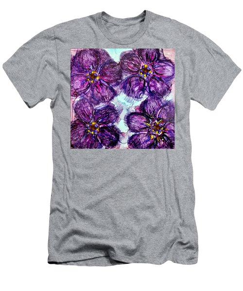 Purple Daisies Alcohol Inks Men's T-Shirt (Athletic Fit)