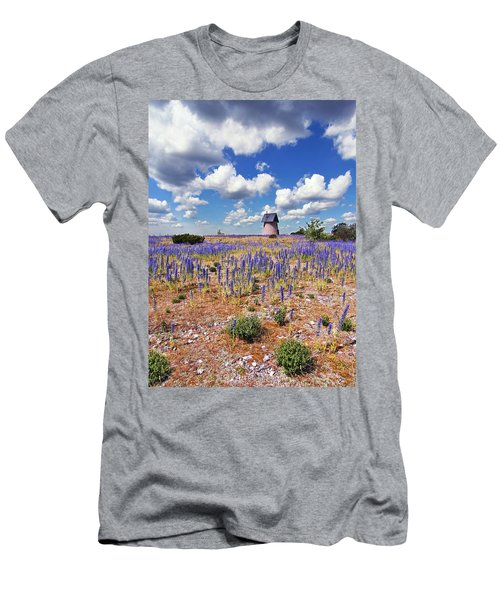 Purple Flower Countryside Men's T-Shirt (Athletic Fit)
