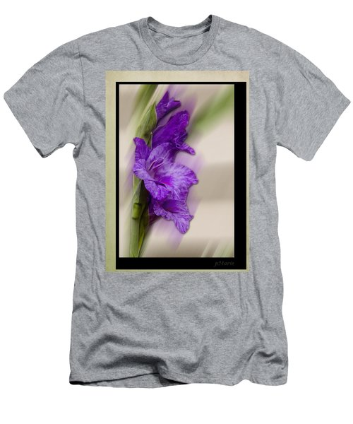 Purple Gladiolus Bloom Men's T-Shirt (Athletic Fit)