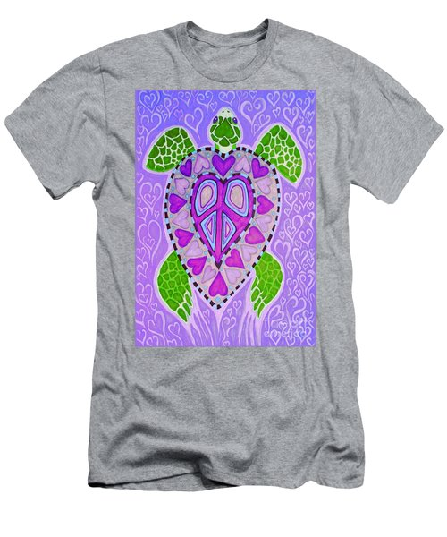 Purple Heart Turtle Men's T-Shirt (Athletic Fit)