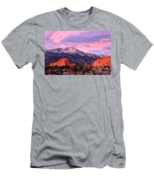 Purple Skies Over Pikes Peak Men's T-Shirt (Slim Fit) by Ronda Kimbrow